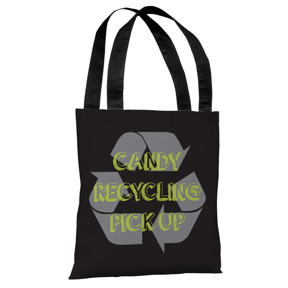 Candy Recycling Bag - Black Tote Bag by OBC