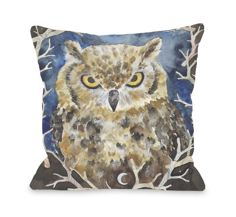 Rivers Owl  Throw Pillow by Ana Victoria Calderon