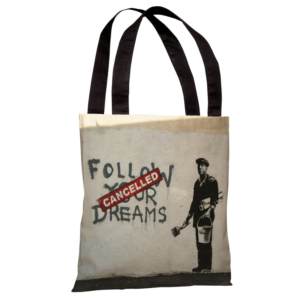 Dreams Cancelled Tote Bag by Banksy