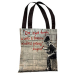 One Original Thought Tote Bag by Banksy