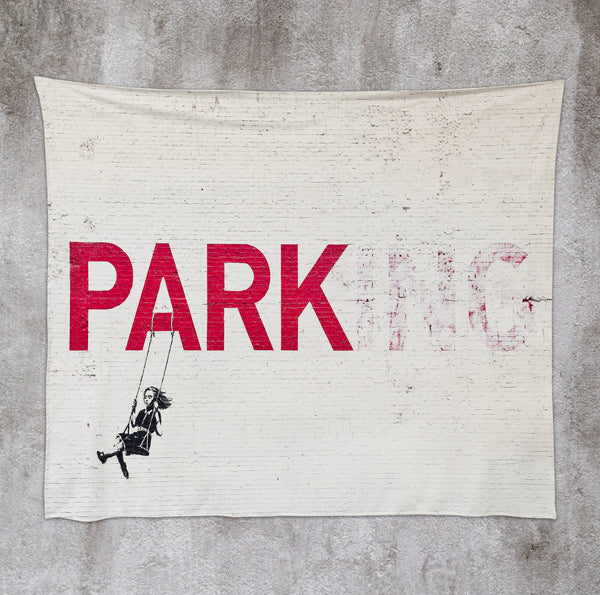 Parking Swing 50x60 Wall Tapestry by Banksy
