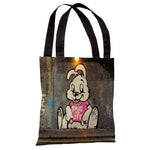 Thug for Life Bunny Tote Bag by Banksy