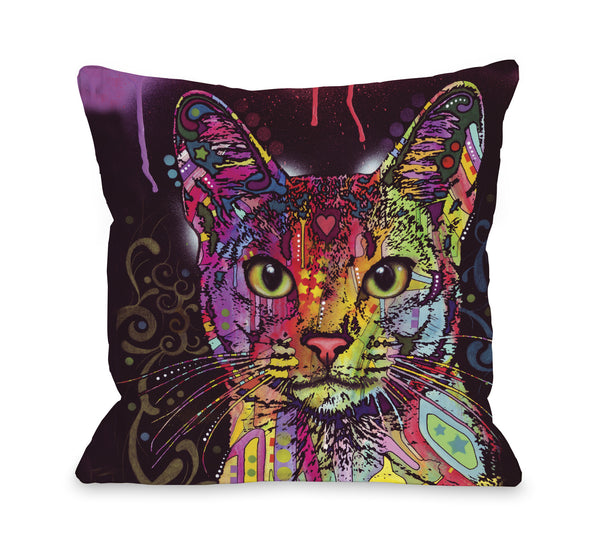 Abyssinian Throw Pillow by Dean Russo