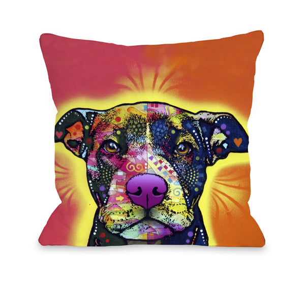 Love a Bull Throw Pillow by Dean Russo