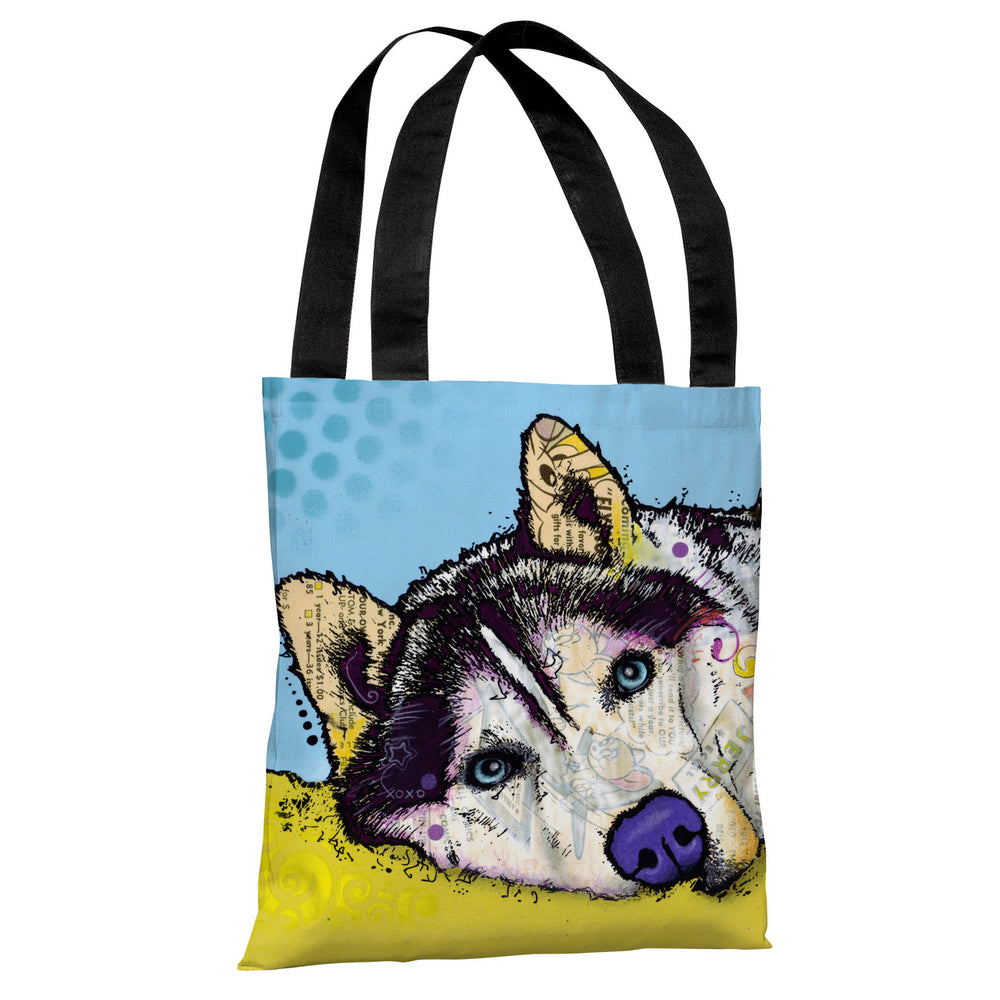 Siberian Husky Tote Bag by Dean Russo