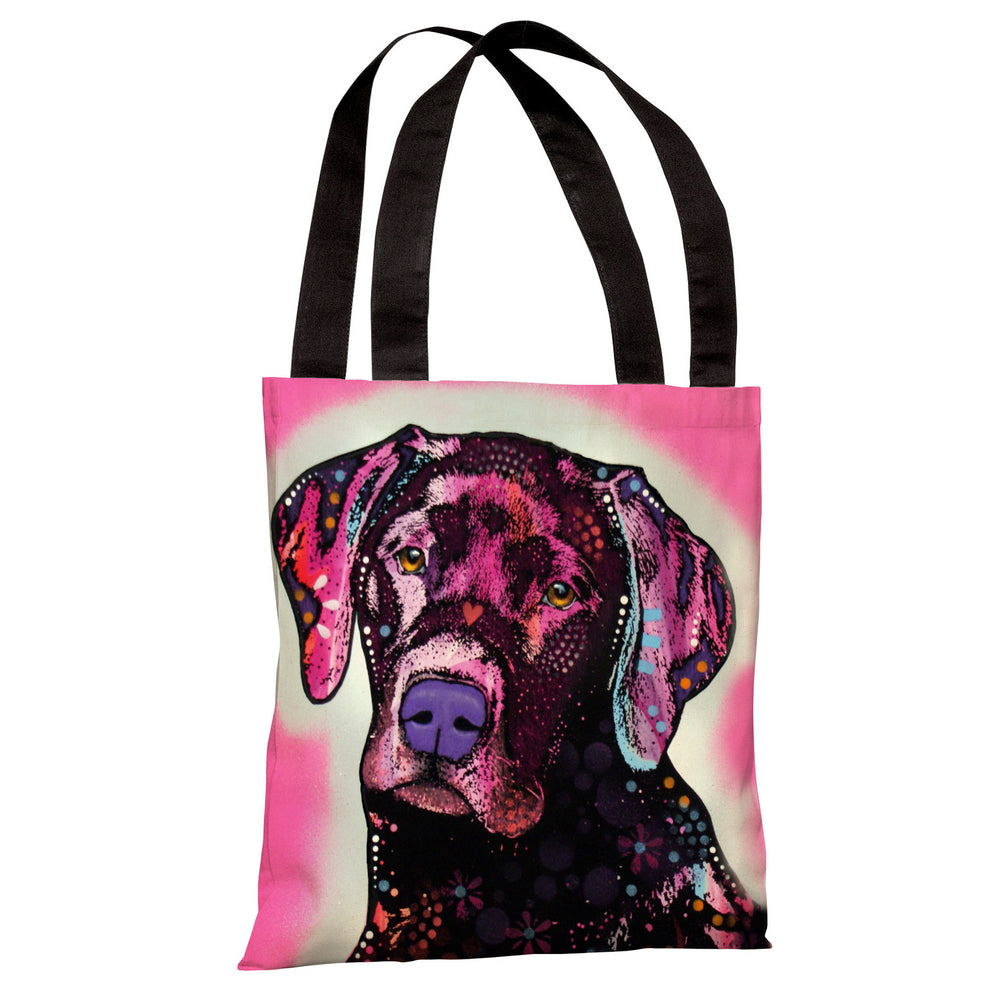 Black Lab Tote Bag by Dean Russo