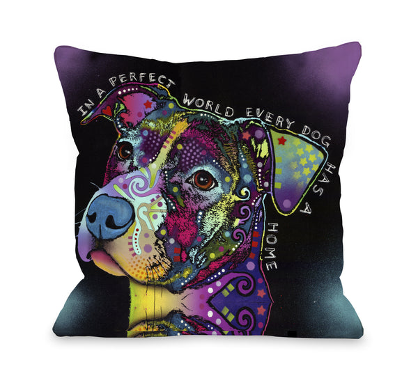 In A Perfect World Throw Pillow by Dean Russo