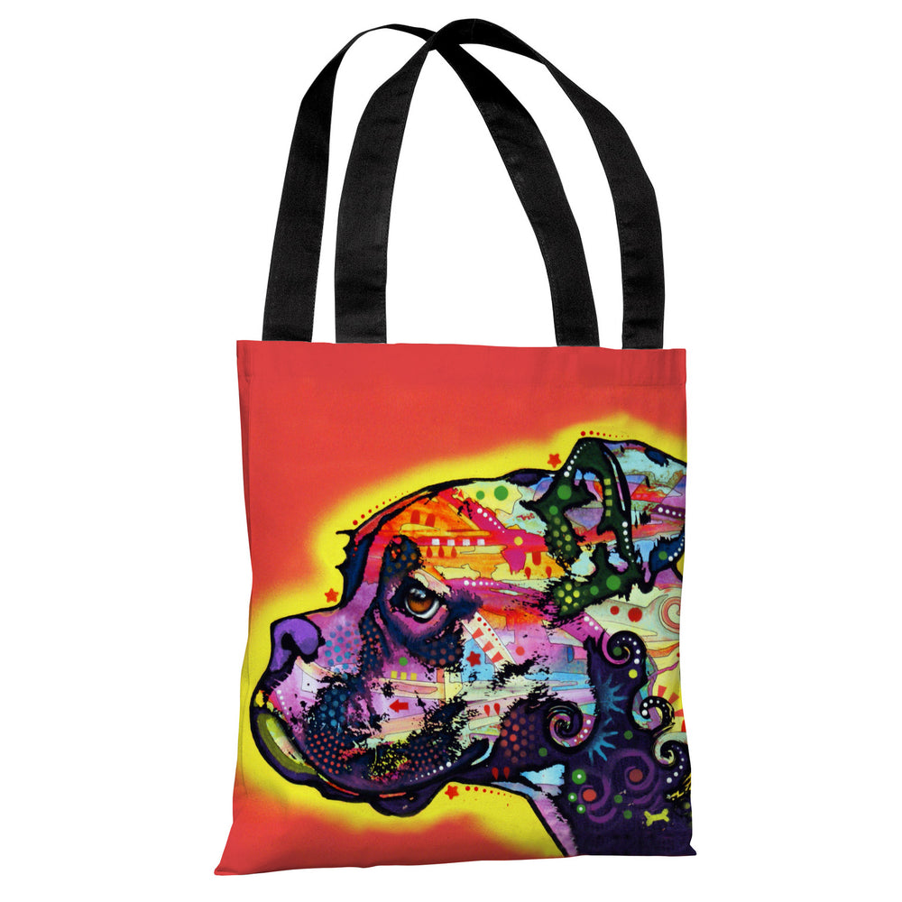 Profile Boxer Tote Bag by Dean Russo