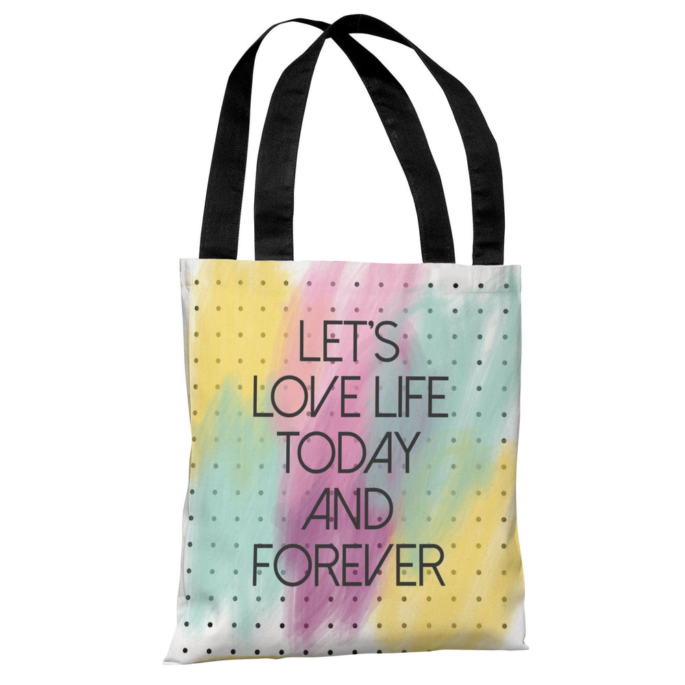 Let's Love Life Dot Tote Bag by OBC