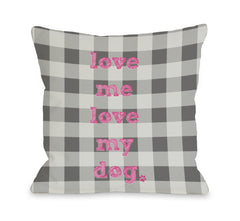 Love Me Love My Dog Plaidby OneBellaCasa Affordable Home D_cor
