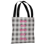 Love Me Love My Dog Plaid Tote Bag by OBC