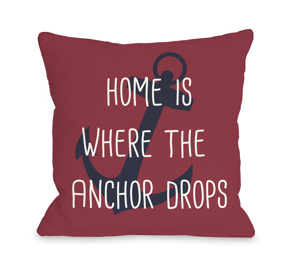 Anchor Drops Outdoor Throw Pillow by OBC