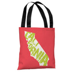 California State Type Tote Bag by OBC