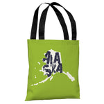 Alaska State Type Tote Bag by OBC