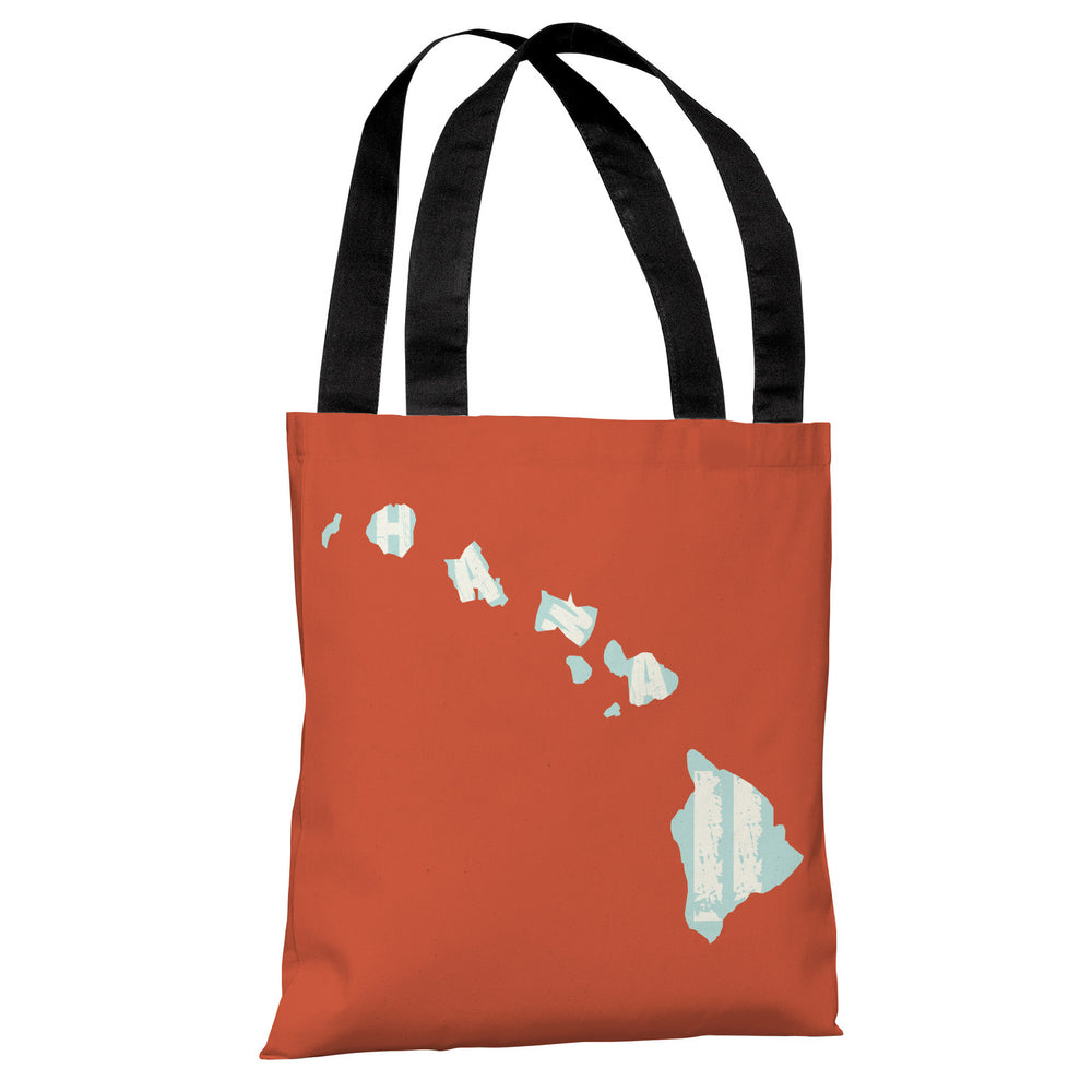 Hawaii State Type Tote Bag by OBC