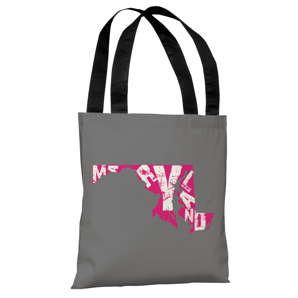 Maryland State Type Tote Bag by OBC