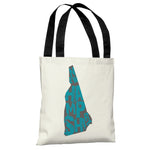 New Hampshire State Type Tote Bag by OBC