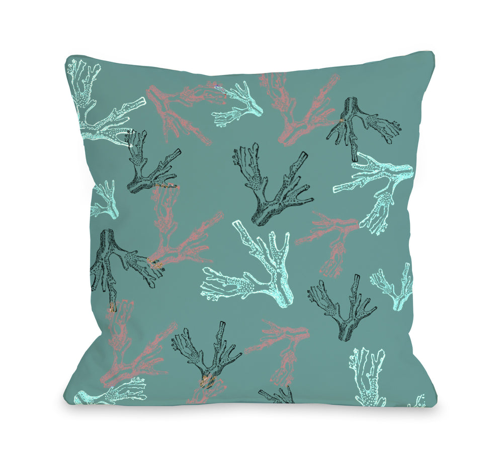 Coral Reef Outdoor Throw Pillow by OBC
