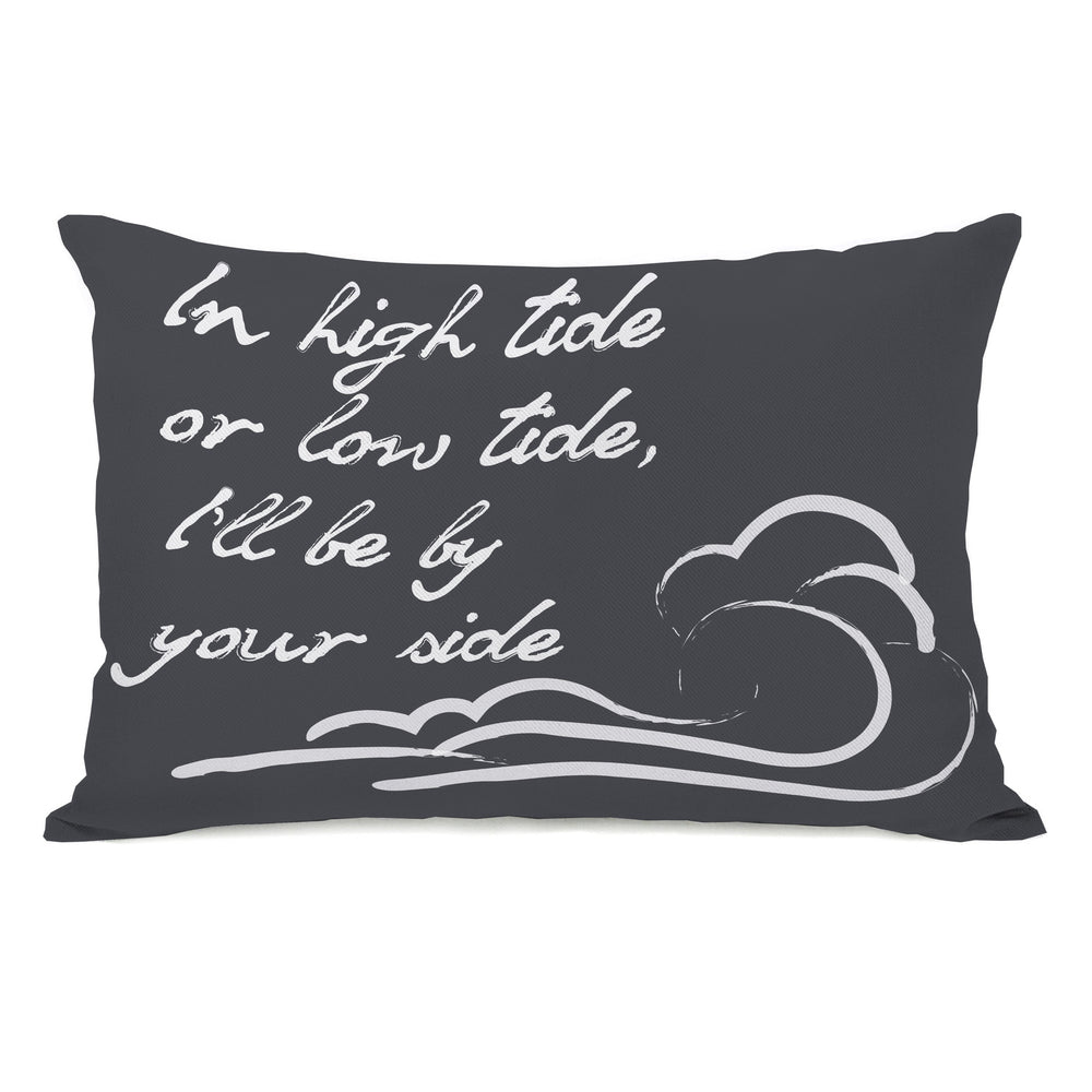 High Tide Low Tide Outdoor Throw Pillow by OBC