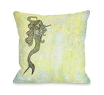 Mermaid Outdoor Throw Pillow by OBC