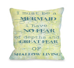 Must Be A Mermaid Outdoor Throw Pillow by OBC