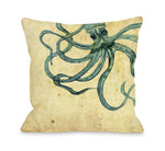 Octopus Outdoor Throw Pillow by OBC