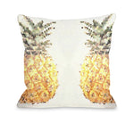Pineapple Half Outdoor Throw Pillow by OBC