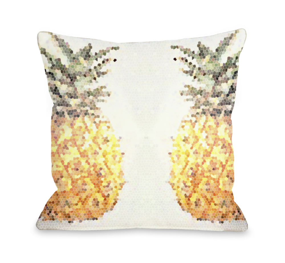 Pineapple Half Throw Pillow by OBC