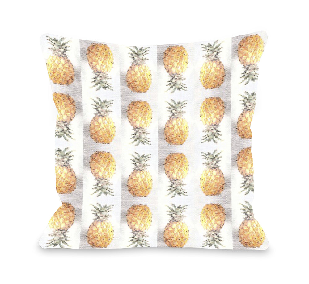 Pineapple Pattern Throw Pillow by OBC