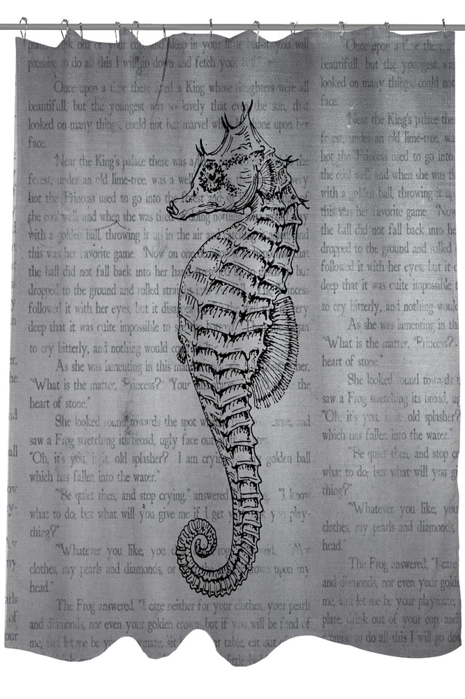 Vintage Seahorse Shower Curtain by OBC