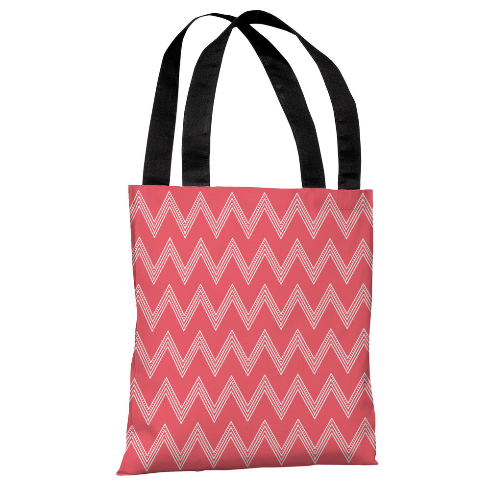 Emily Tier Chevron - Salmon Tote Bag by OBC