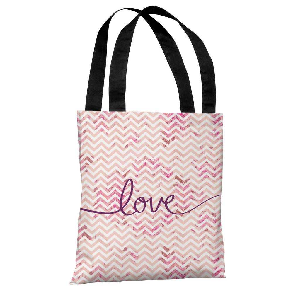 Love Mix & Match Chevron Tote Bag by OBC