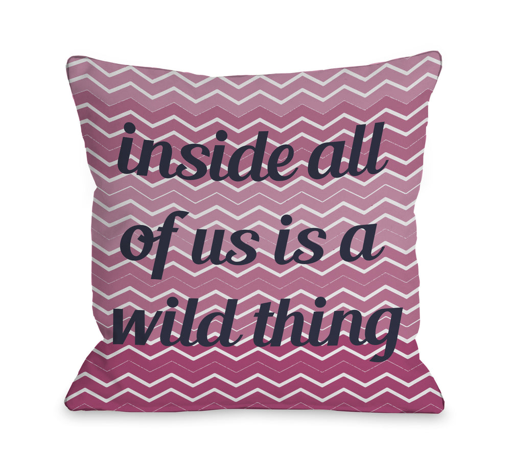 A Wild Thing Chevron Outdoor Throw Pillow by OBC