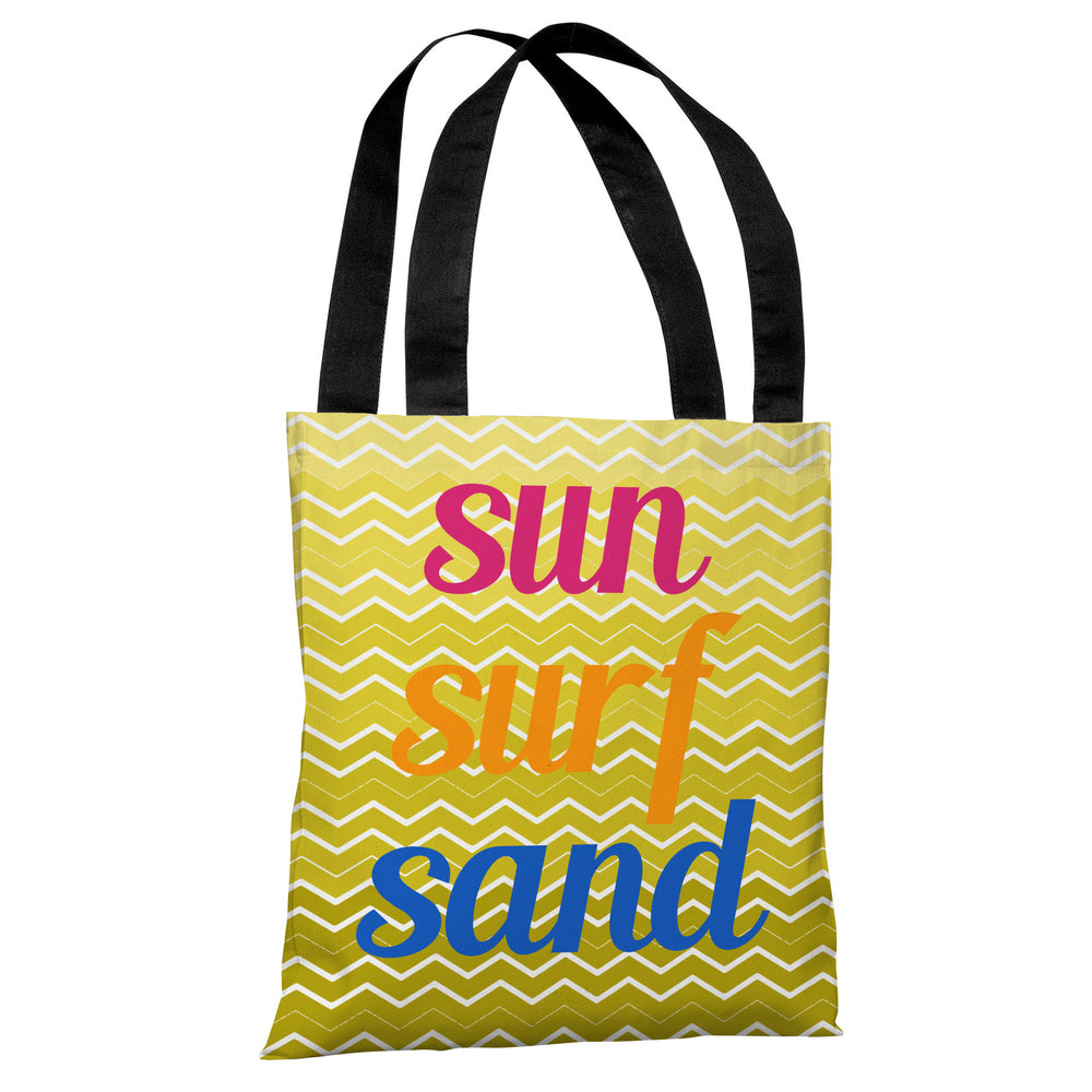 Sun Surf Sand Chevron Tote Bag by OBC