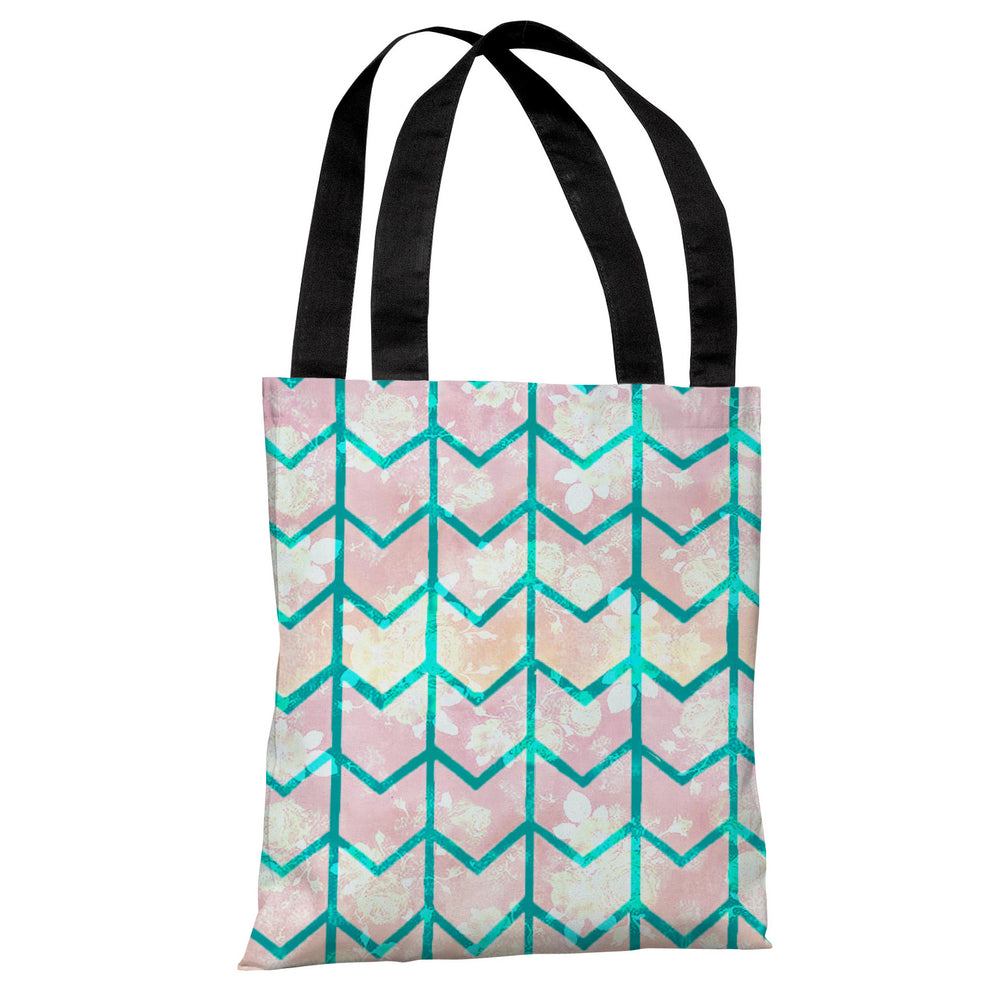 Ombre Chevron Tote Bag by OBC