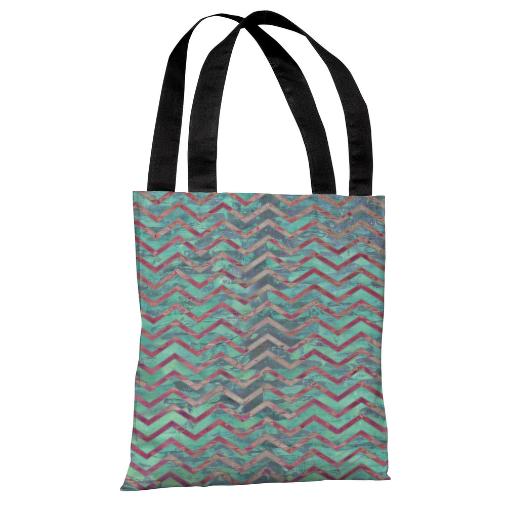 Wave Chevron Tote Bag by OBC