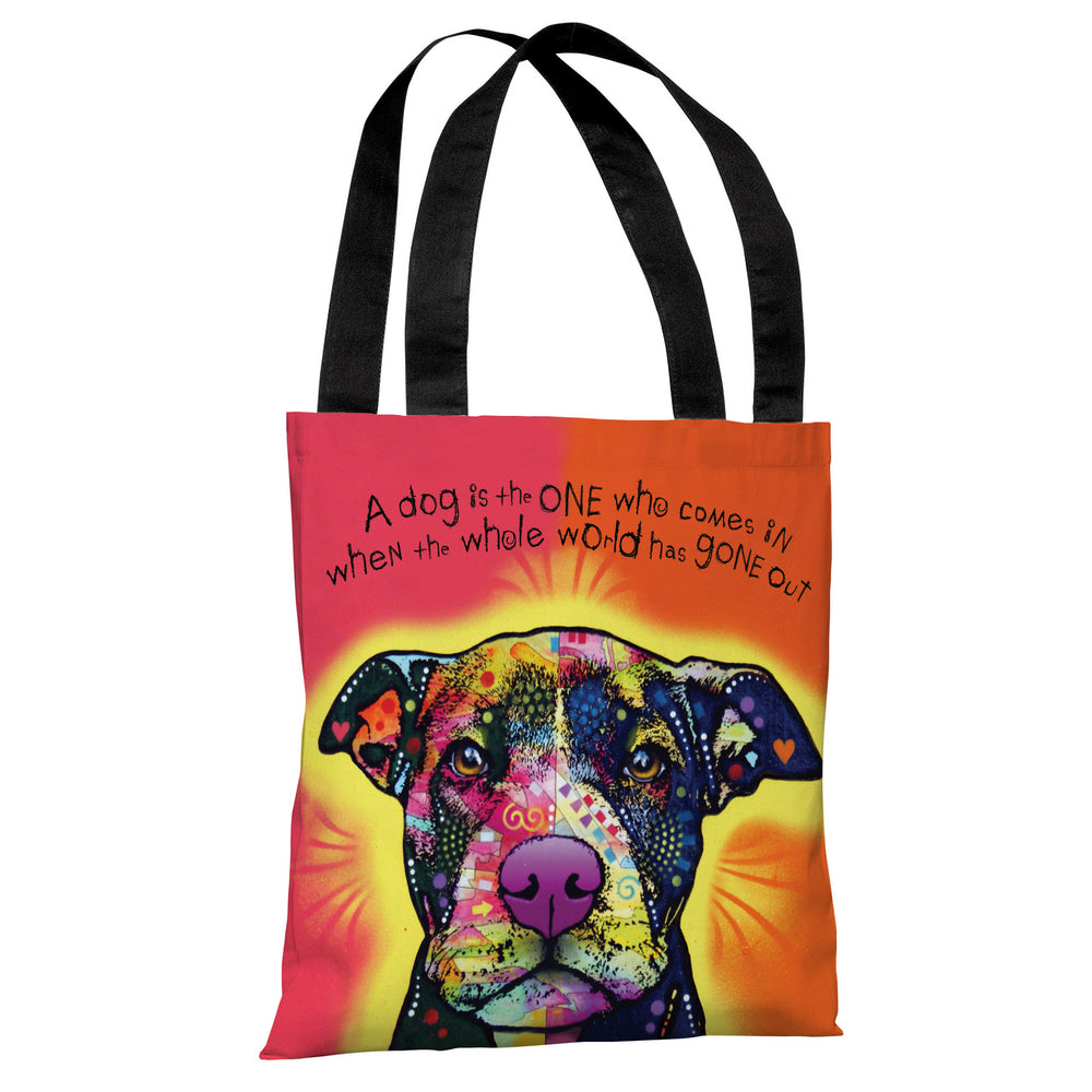 Love A Bull with Text Tote Bag by Dean Russo