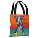 On My Own with Text Tote Bag by Dean Russo