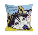 Siberian Husky with Textby OneBellaCasa Affordable Home D_cor