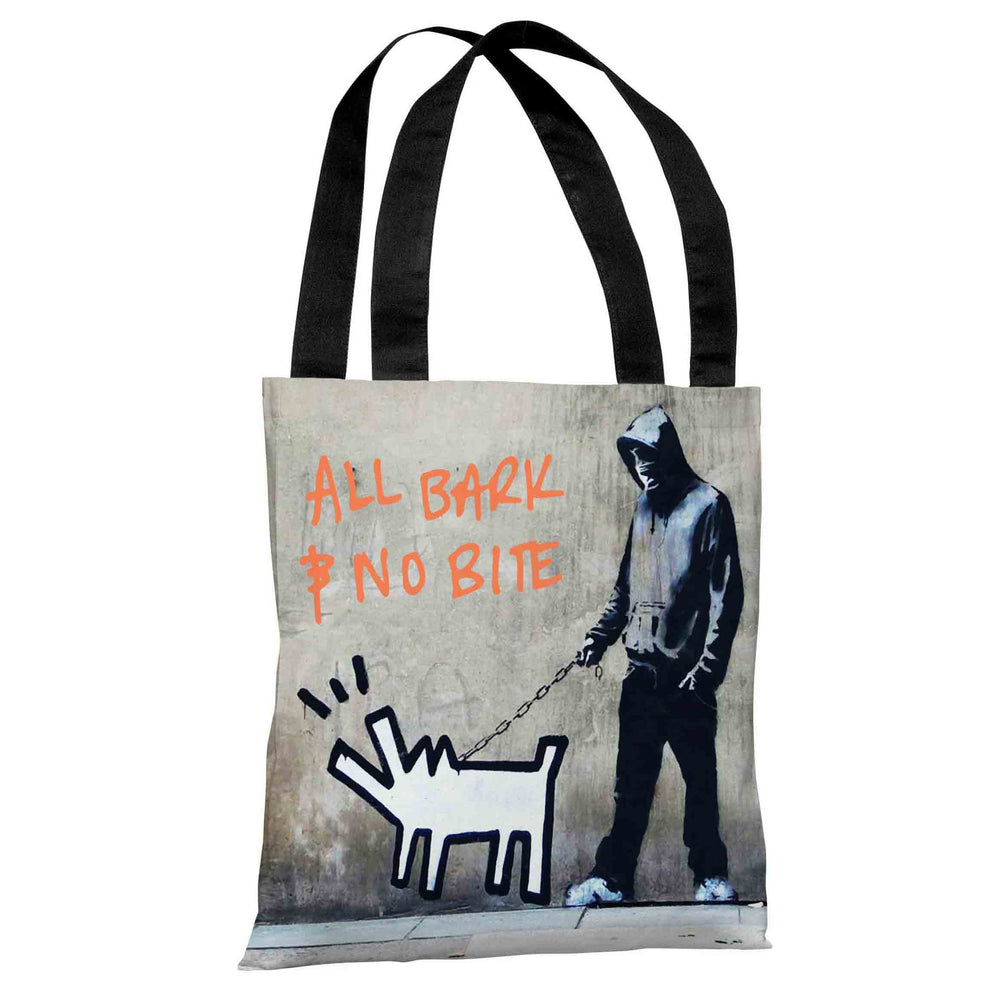 Choose Your Weapon All Bark No Bite Tote Bag by Banksy