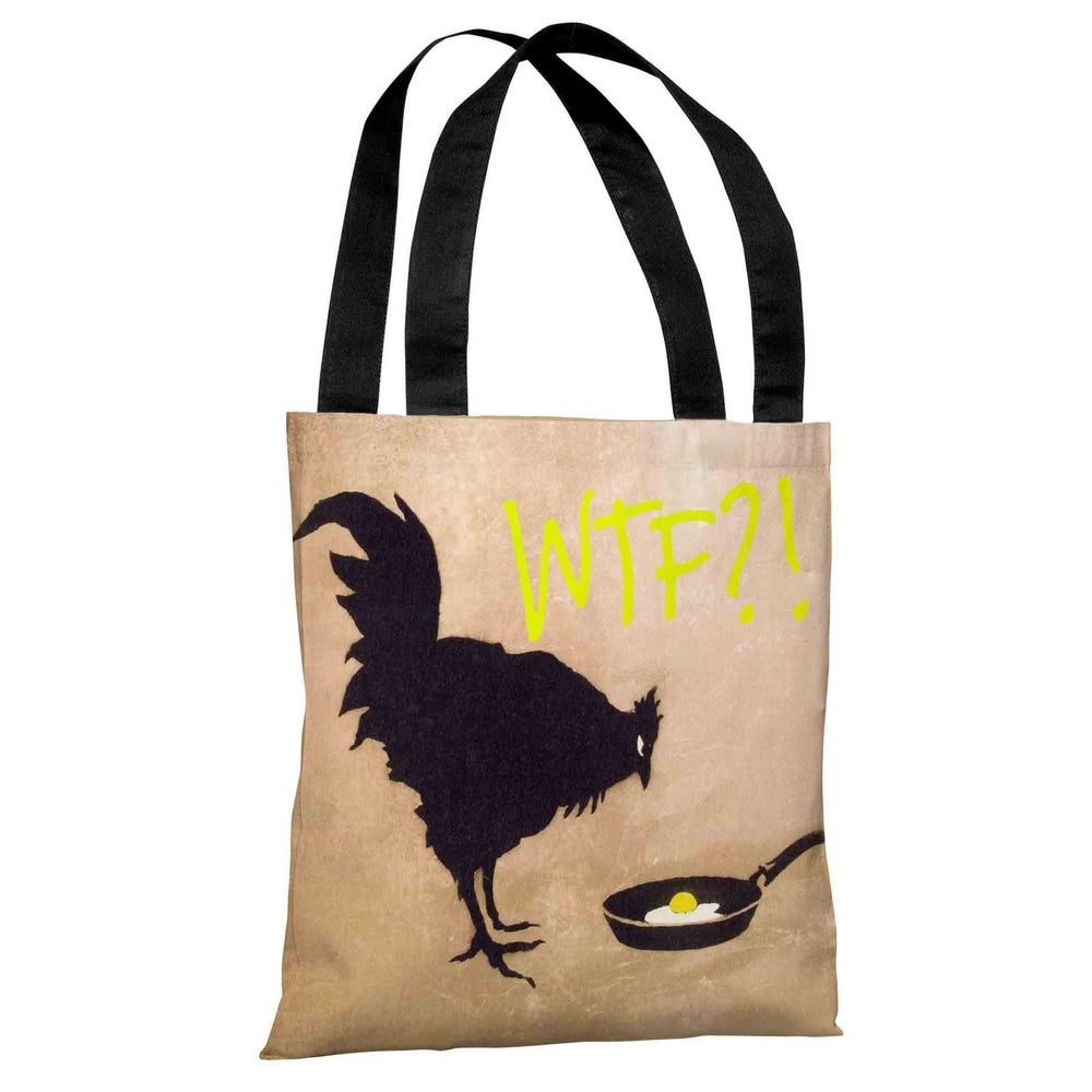 Chicken and Egg WTF Tote Bag by Banksy