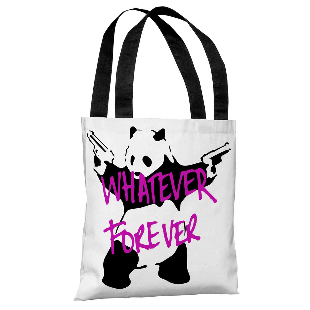 Panda Whatever Forever Tote Bag by Banksy
