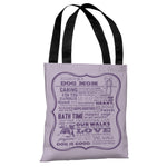Proud to be a Dog Mom - Purple Tote Bag by Dog is Good
