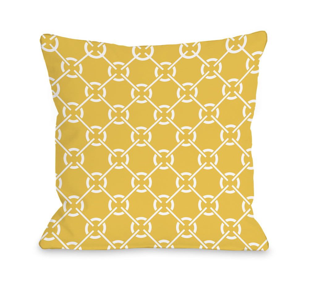 Cecile's Circles - Solar Power Outdoor Throw Pillow by OBC