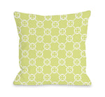 Cecile's Circles - Sunny Lime Outdoor Throw Pillow by OBC