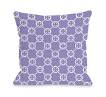 Cecile's Circles - Violet Tulip Outdoor Throw Pillow by OBC