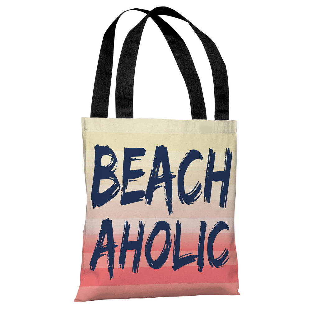 Beachaholic - Multi Navy Tote Bag by OBC