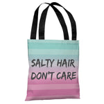 Salty Hair, Don't Care - Multi Gray Tote Bag by OBC