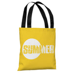 Summer Text - Yellow Tote Bag by OBC