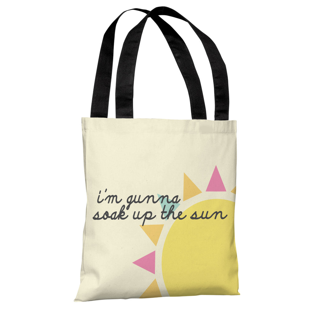 Soak Up The Sun - Yellow Tote Bag by OBC